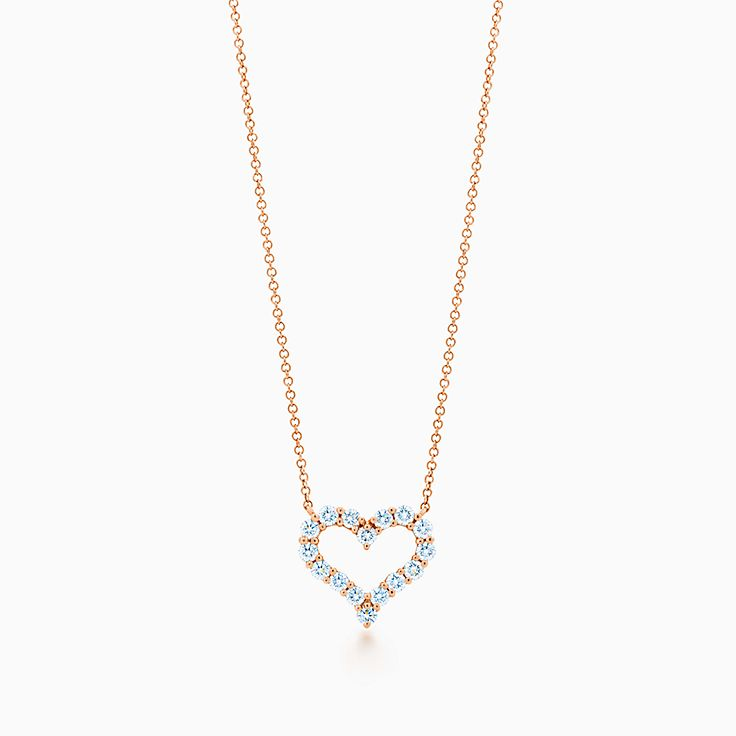 心形镶钻项链