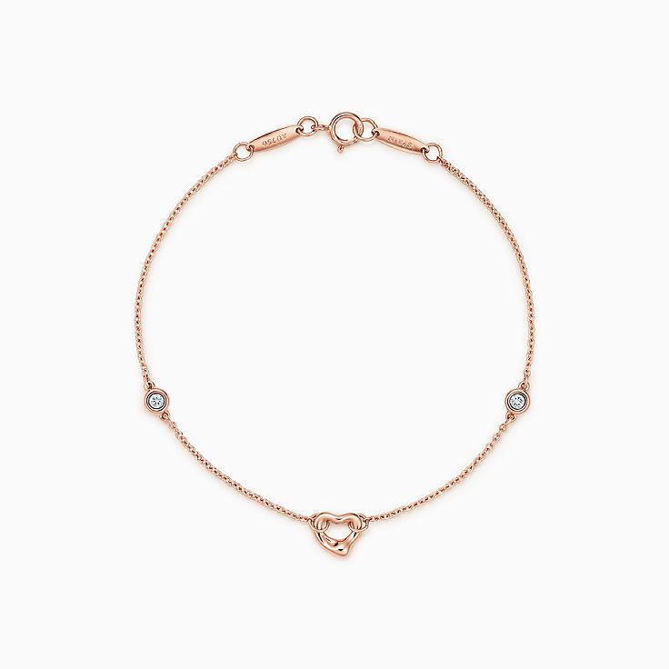 Elsa Peretti® 系列:Diamonds by the Yard™ Open Heart 手链