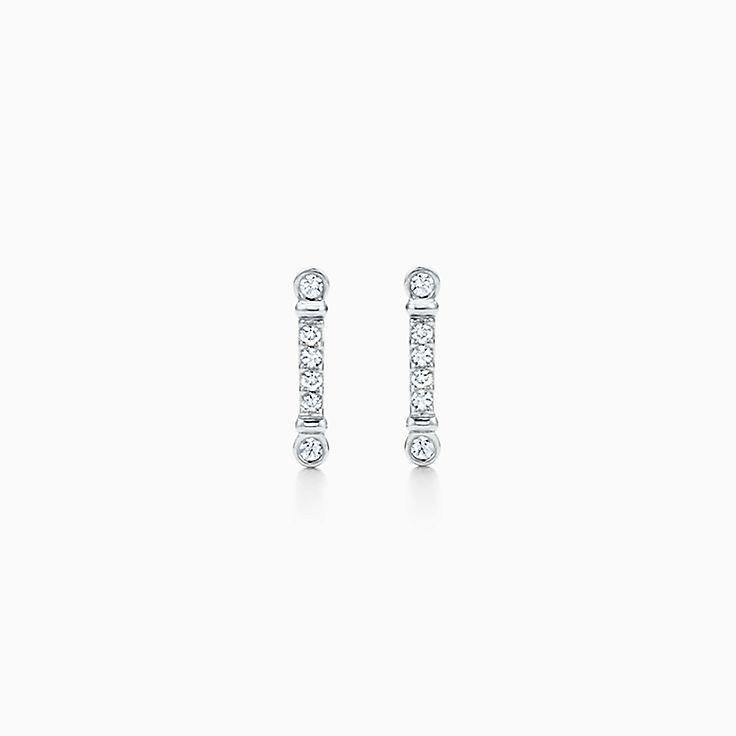 Tiffany Fleur de Lis 系列:鸢尾花枝形耳环