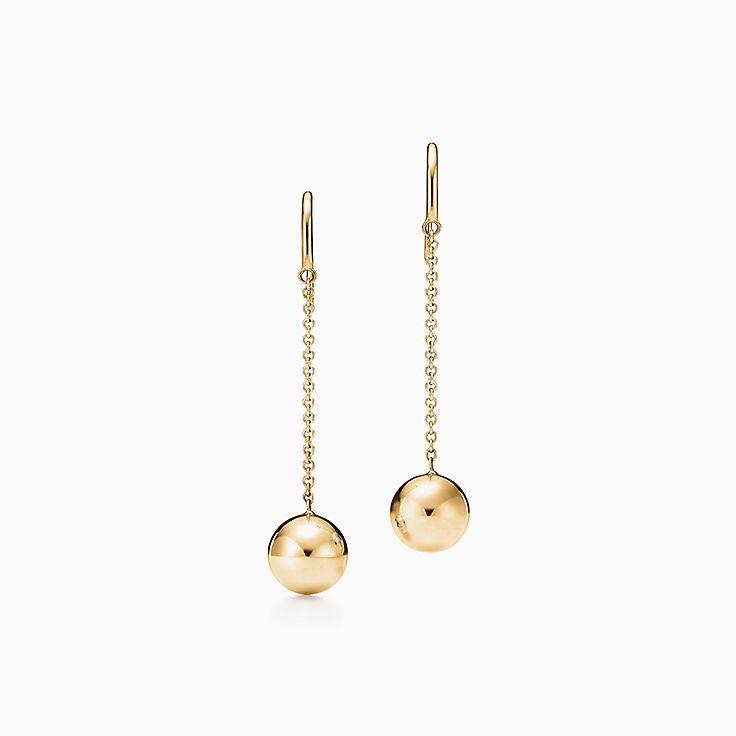 Tiffany HardWear 系列:球形钩式耳环