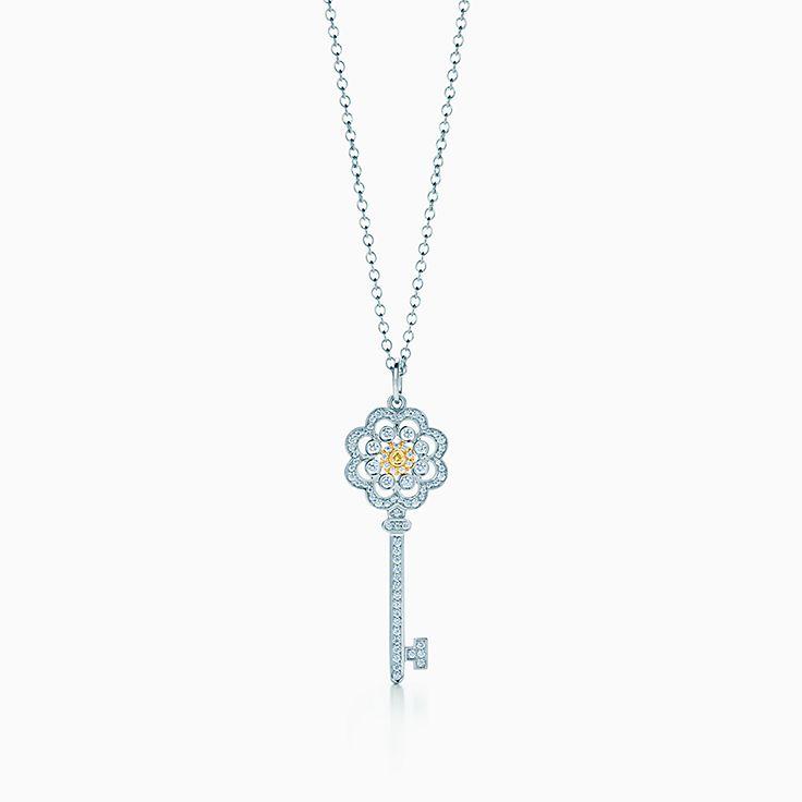 Tiffany Keys: 玫瑰形钥匙吊坠