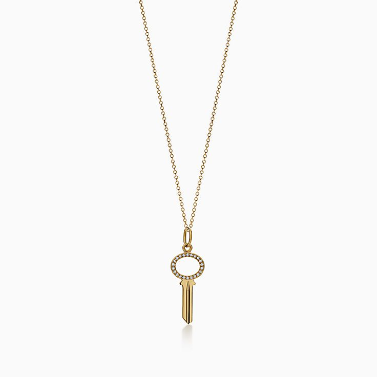 Tiffany Keys 系列:Modern Keys 椭圆形镂空钥匙吊坠
