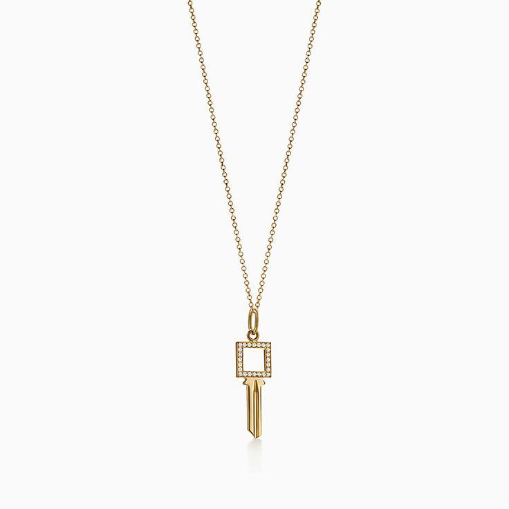 Tiffany Keys 系列:Modern Keys 方形镂空钥匙吊坠