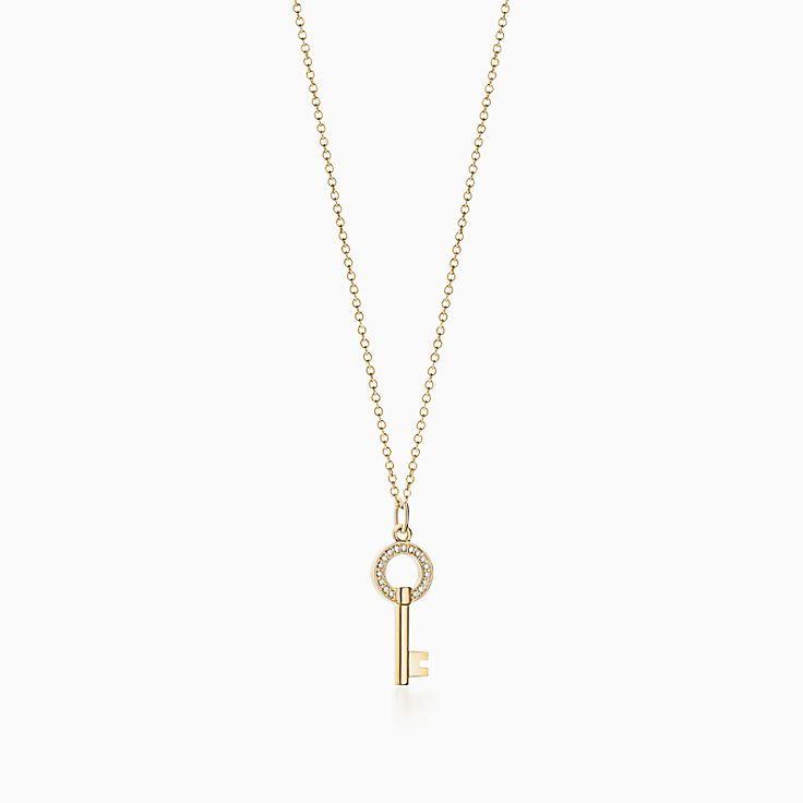 Tiffany Keys 系列:Modern Keys 圆形镂空钥匙吊坠