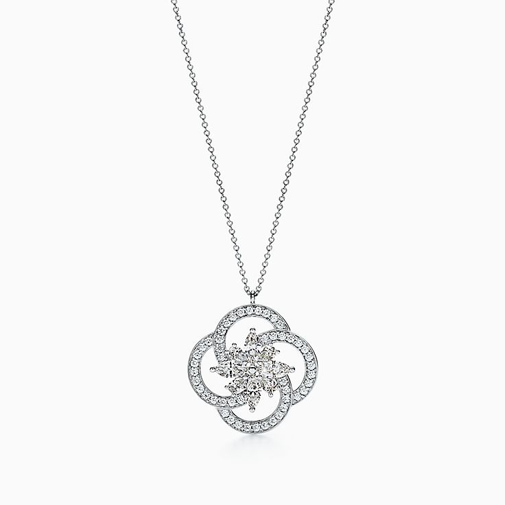 Tiffany Keys 系列:Tiffany Victoria™ 花簇钥匙项链