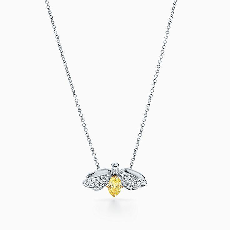 Tiffany Paper Flowers™:花韵系列黄钻萤火虫 吊坠