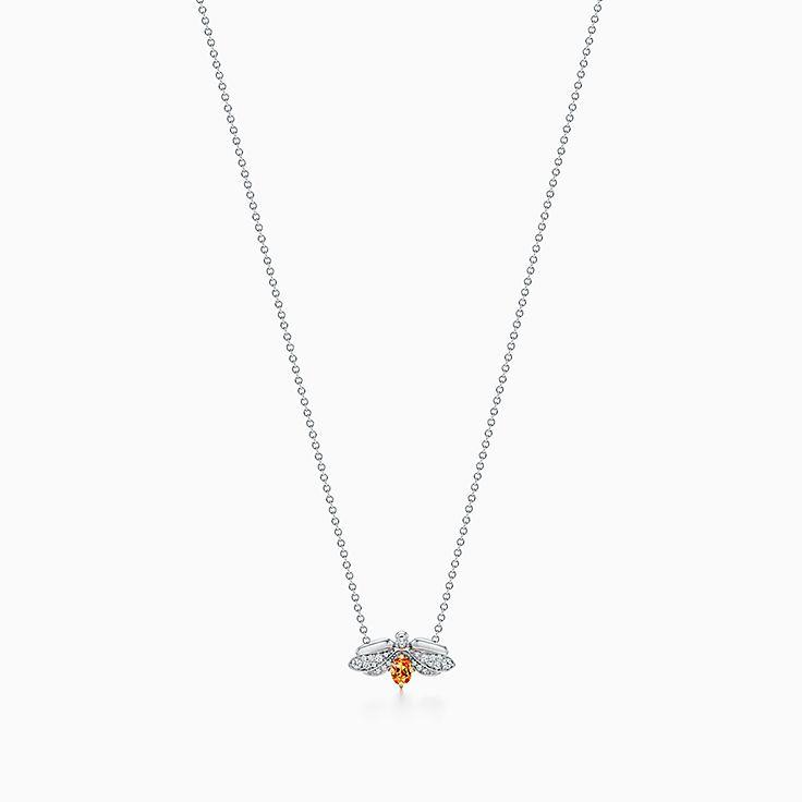 Tiffany Paper Flowers™ 花韵系列:锰铝榴石萤火虫项链