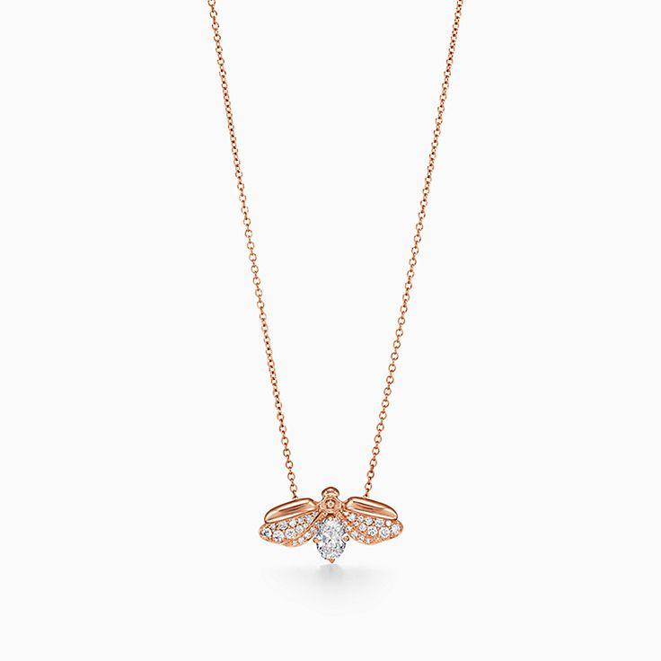 Tiffany Paper Flowers™ 花韵系列:镶钻萤火虫项链