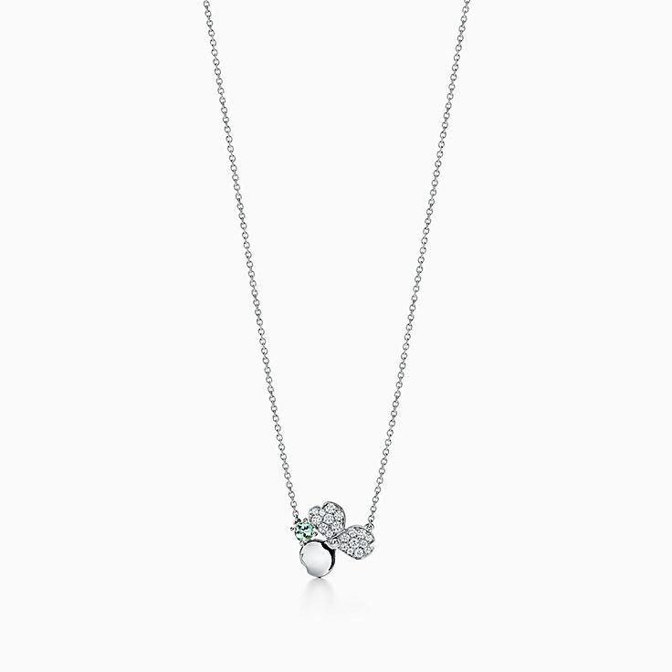 Tiffany Paper Flowers™ 花韵系列:绿碧玺花朵项链
