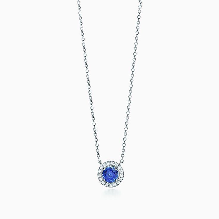 Tiffany Soleste 系列:蓝宝石和钻石项链