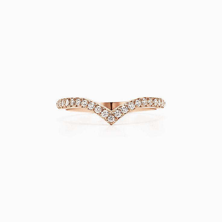 Tiffany Soleste 系列:V 形戒指