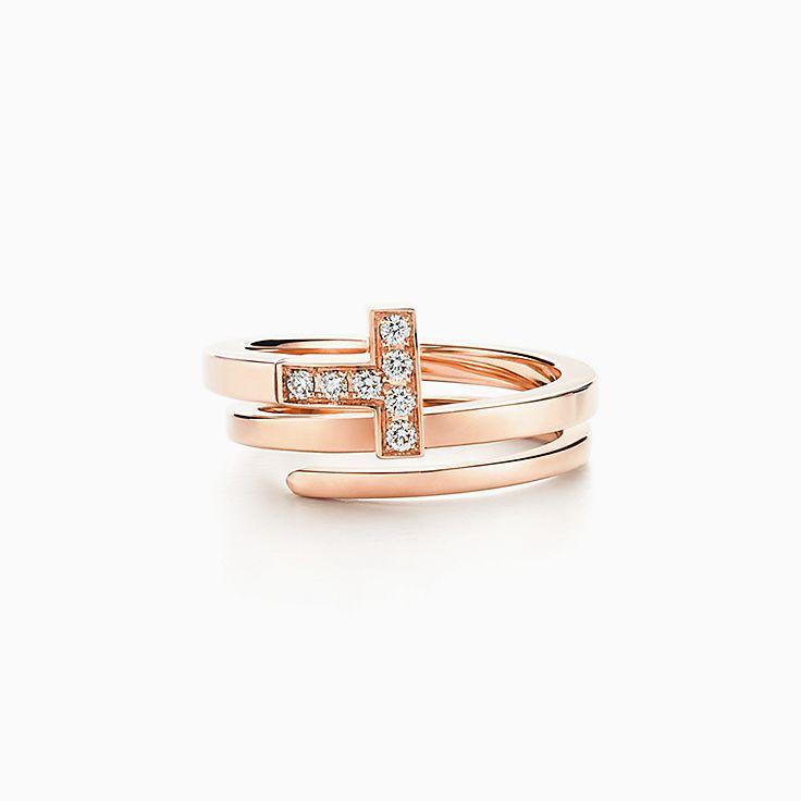 Tiffany T 系列:方形缠绕式戒指