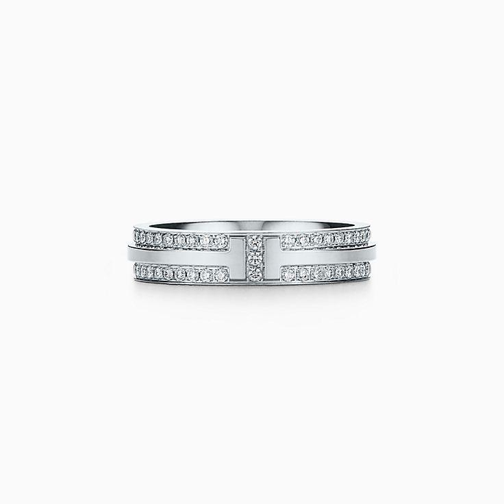 Tiffany T 系列:窄式 T Two 戒指