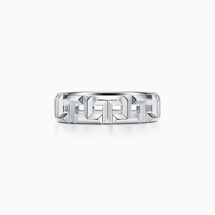 Tiffany T 系列:True 宽式戒指